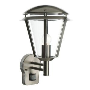 Saxby Inova Outdoor Steel Wall Lantern Security PIR Motion Sensor Light IP44