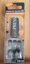 ImPRESS Press On Manicure Limited Halloween Edition French Spider Web New