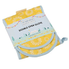 The Great British Bake Off 100% Cotton Yellow Double Oven Glove