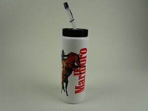 Vintage Marlboro Sports Water Bottle Cowboy Made In USA EUC