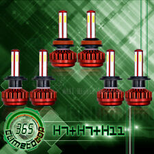 Combo H7+H7+H11/H9/H8 LED Headlight Bulbs Kit Hi/Lo Beam + Fog Lamp 2940W total