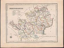 Hertfordshire Britannica 9th Edition 1898 Old Railways Roads County Map
