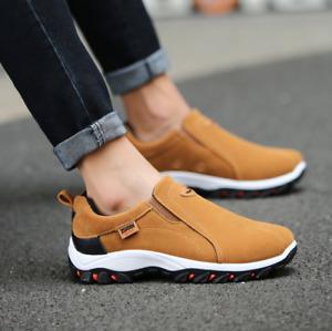 Mocassin Sneakers sans lacet pas cher baskets homme mode confortable daim x