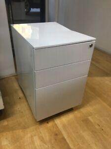 Slimline Under Desk Mobile Storage Filing Metal Toolbox bedside drawers Damaged