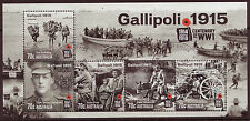AUSTRALIA 2015 GALLIPOLI 1915  MINIATURE SHEET FINE USED