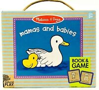 1 Ct Melissa & Doug Natural Play Mamas & Babies Rhyming Book & Memory Match Game
