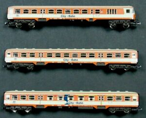 8123K 8125K 8124K Fleischmann N Gauge Vintage Model Coaches in Case Bundle of 3