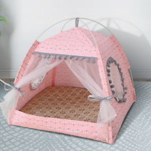 Pet Bed Summer Dog Cat Tent Nest Dog House Cage  Small Middle Large Dog Cat Tent