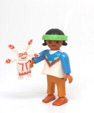 Playmobil Figure Western Indian Girl Child w/ Headband Kachina Rag Doll 3871
