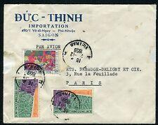 Viêt Nam - Enveloppe commerciale de Saigon pour la France en 1959  réf F183