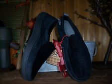 DEARFOAM MENS HOUSE SLIPPERS SIZE LARGE 11-12 COLOR BLACK MENS CASUAL SHOES NEW