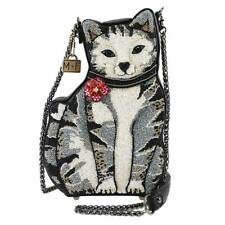Mary Frances 9 Lives Cat Kitty White Black Feline Hemingway White Handbag NEW