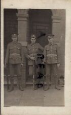 WW1 Soldier group B Coy 4th Oxford & Bucks Light Infantry outside billet