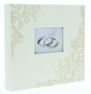 "White Slip In Photo Album 200 6"" x 4"" Photos Memo Wedding Ring Home Love Gift"
