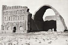 1934 Vintage 11x14 IRAN Ctesiphon Arch  Taq-I Kisra Ruins Photo Art ~ HURLIMANN