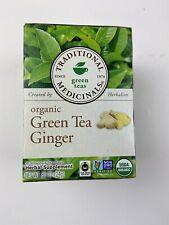 Traditional Medicinals Organic Green Tea Ginger NEW 16 Bags .85 OZ Herbal