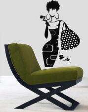 Wall Decals Vinyl Decal Sticker Mural Beauty Salon Decor Fashion Girl Kj154