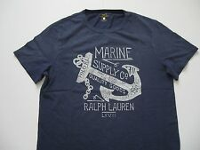 POLO RALPH LAUREN Men's Custom Fit Vintage Anchor Printed Graphic T-Shirt XL