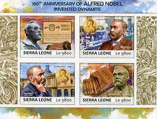 Sierra Leona 2017 estampillada sin montar o nunca montada Alfred Nobel 150th dinamita 4 V m/s Sellos De Ciencia