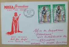 1964 Jamaica first day cover Miss World Mecca