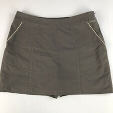 ExOfficio Women's Skort Size 14 brown nylon blend athletic hiking