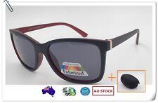 Women Ladies Polarised Blk Sunglasses Fashion 100% UV Protection+Free Hard Case