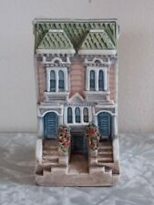 "Miniature Collectible Ceramic Building Townhouse 2 3/4"" Tall Argentina"