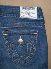 True Religion Size 28 Becky Boot Cut Flap Pocket Dark Blue Stretch Denim Womens