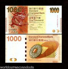 HONG KONG CHINA $1000 P301 2010 SBC DRAGON COIN UNC COIN CURRENCY MONEY BANKNOTE