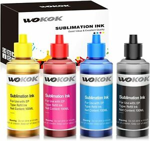 4x100ML Refill Dye Ink Bottles for Epso 522 T5221-4 Ecotank ET-2720 ET-4700 Tank