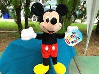"VERY RARE NEW Playskool Disney Mickey Mouse Lovey 9"" Plush Stuffed Animal Toy"