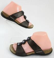 Mephisto Womens 'Adua' Slide Sandals Bronze Pearl Sz 37 EU 6.5 / 7 US