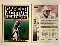 Irving Fryar Signed 1994 Topps #472 Card Miami Dolphins Auto Autograph
