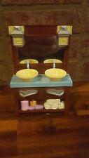 2008 Fisher Price Loving Family Dollhouse 2 Sink Bathroom Vanity Furniture