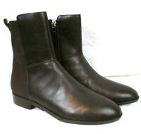 Marc Fisher Oksana Leather Ankle Boots 6M Brown Side Zip Womens BR54