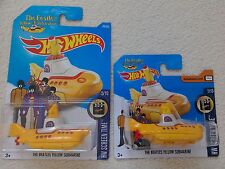 2016 HOT WHEELS 2 BEATLES YELLOW SUBMARINE 1 on a big card 1 on a small card