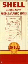 1954 Shell Road Map: Middle Atlantic States NOS