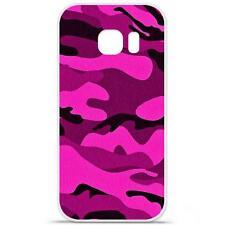 Coque Housse Etui Samsung Galaxy S6 Edge Plus en Silicone - Camouflage Rose