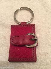 Talbots Key Ring Photo Holder Red Talbots Signature pattern
