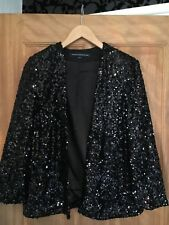 French Connection Black Sequin Evening Jacket Worn Once Size 10