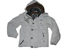 Protest geniale warme Winter Jacke Gr. 140 weiß mit schwarzen Streifen !!