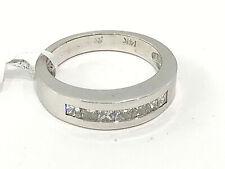 14K White gold Square cut Diamonds Band.0.75cttw.size 7.