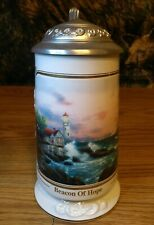 Thomas Kinkade Beacon of Hope Seaside Memories Beer Stein Limited Edition