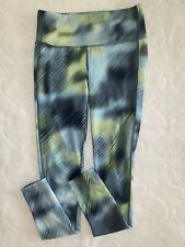 ATHLETA Blue & Green Stretch Leggings Running Workout Pant Layer Size XS