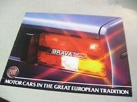 Vintage 1980 FIAT Brava Fuel Injection Automobile Brochure