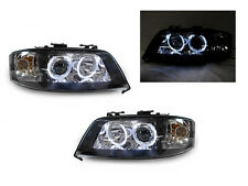 01-05 AUDI Allroad D2S Xenon HID BLACK WHITE LED ANGEL HALO PROJECTOR HEADLIGHT