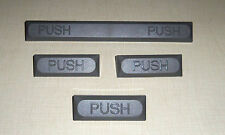 LOT OF 4 NEW WATER / DRINKING FOUNTAIN BUBBLER PUSH COVERS / BUTTONS GRAY COLOR