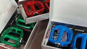 DMR V8 Pedals (Pair) Blue Green or Red (NEW) Mountain Bike Aluminium Platform