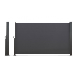 Paravent extérieur rétractable 400 x 180 cm gris anthracite store latéral