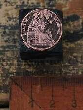 Medaille Université de France Galvano Druckstock Druckplatte Universität Druck